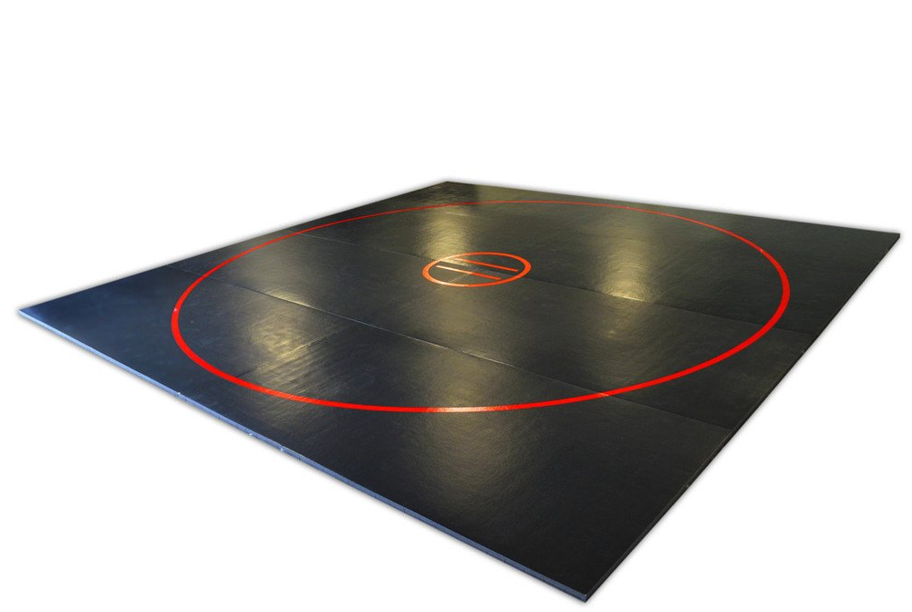 Black and red wrestling mat 20 x 20