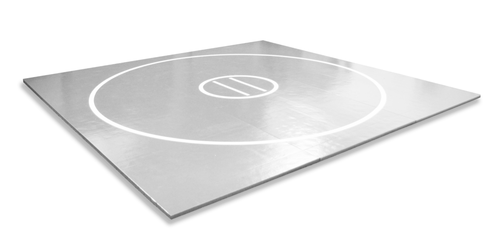 Grey home grappling practice mat