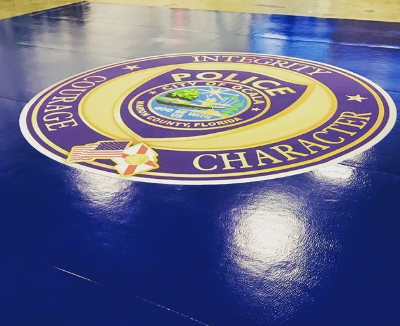 AK Athletics digitally printed roll up mat