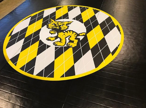 Black and Yellow Wrestling Mat