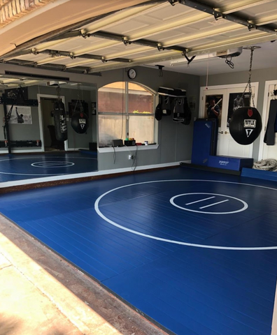 "Grip Safe 12' x 12' x 1 3/8"" Roll-Up Wrestling Mat"