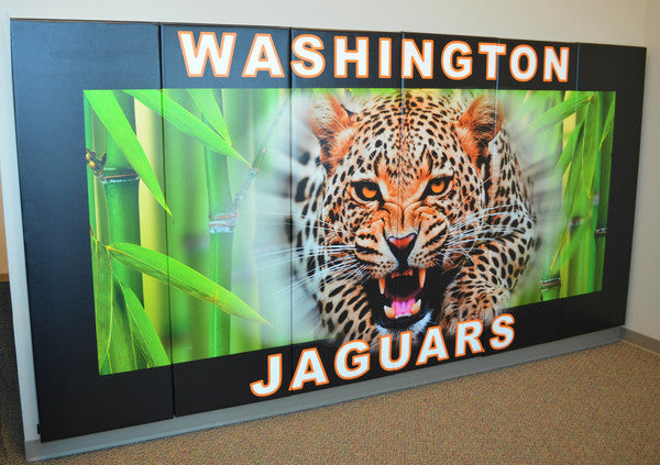 Custom Logo digitally printed on AK Athletics Wall Padding