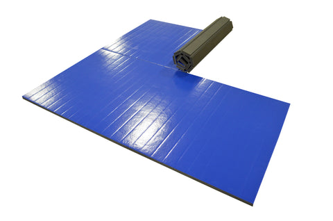 10' x 10' rollup blue martial arts mats AK Athletics Review