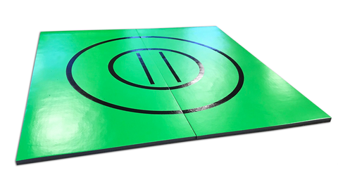 AK Athletics Bright Green Grappling Mat