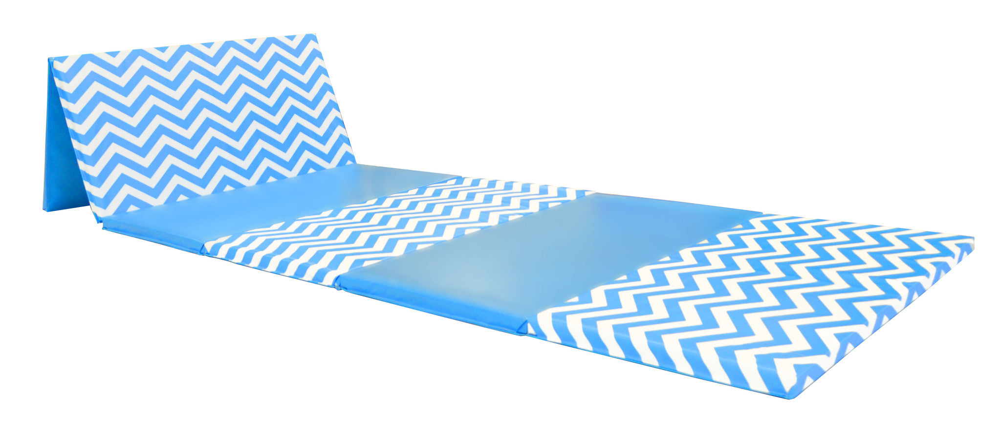 "CLEARANCE LOWEST PRICE OF THE YEAR Chevron Zigzag 4' x 12' x 2"" Intermediate Level Folding Gymnastics Mat"