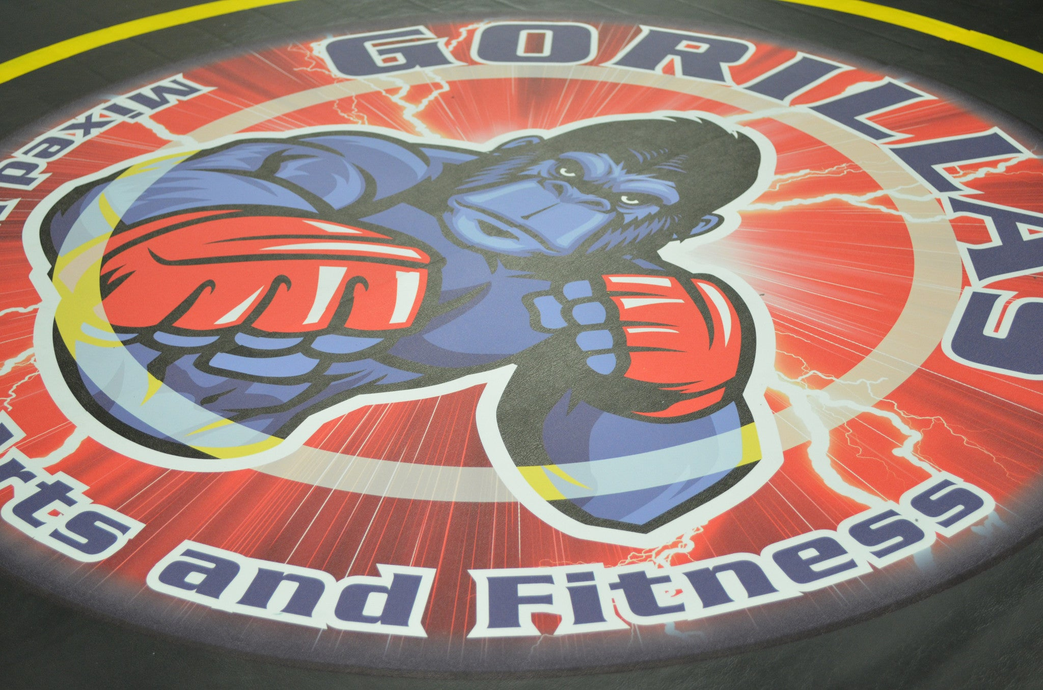 "Digitally Printed 8' x 8' x 1 3/8"" Roll-Up Wrestling Mat"