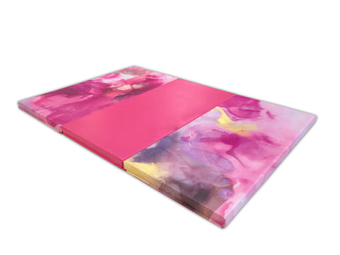 pink watercolor gymnastics mat