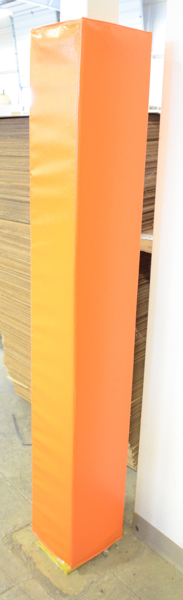 square pole pad orange