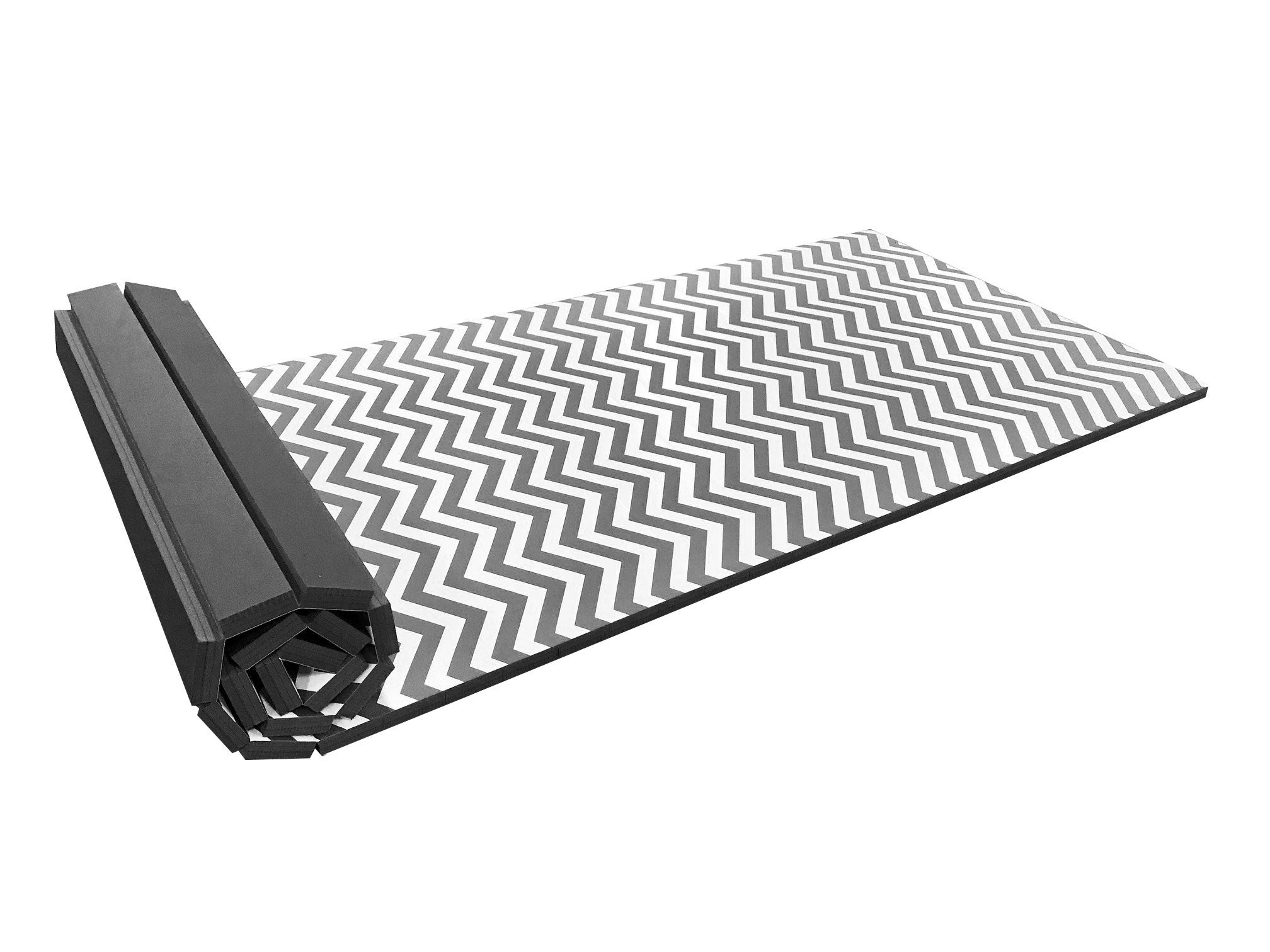 "Roll Up Chevron Zigzag 4' x 8' x 1 3/8"" Advanced Level Gymnastics Mat"