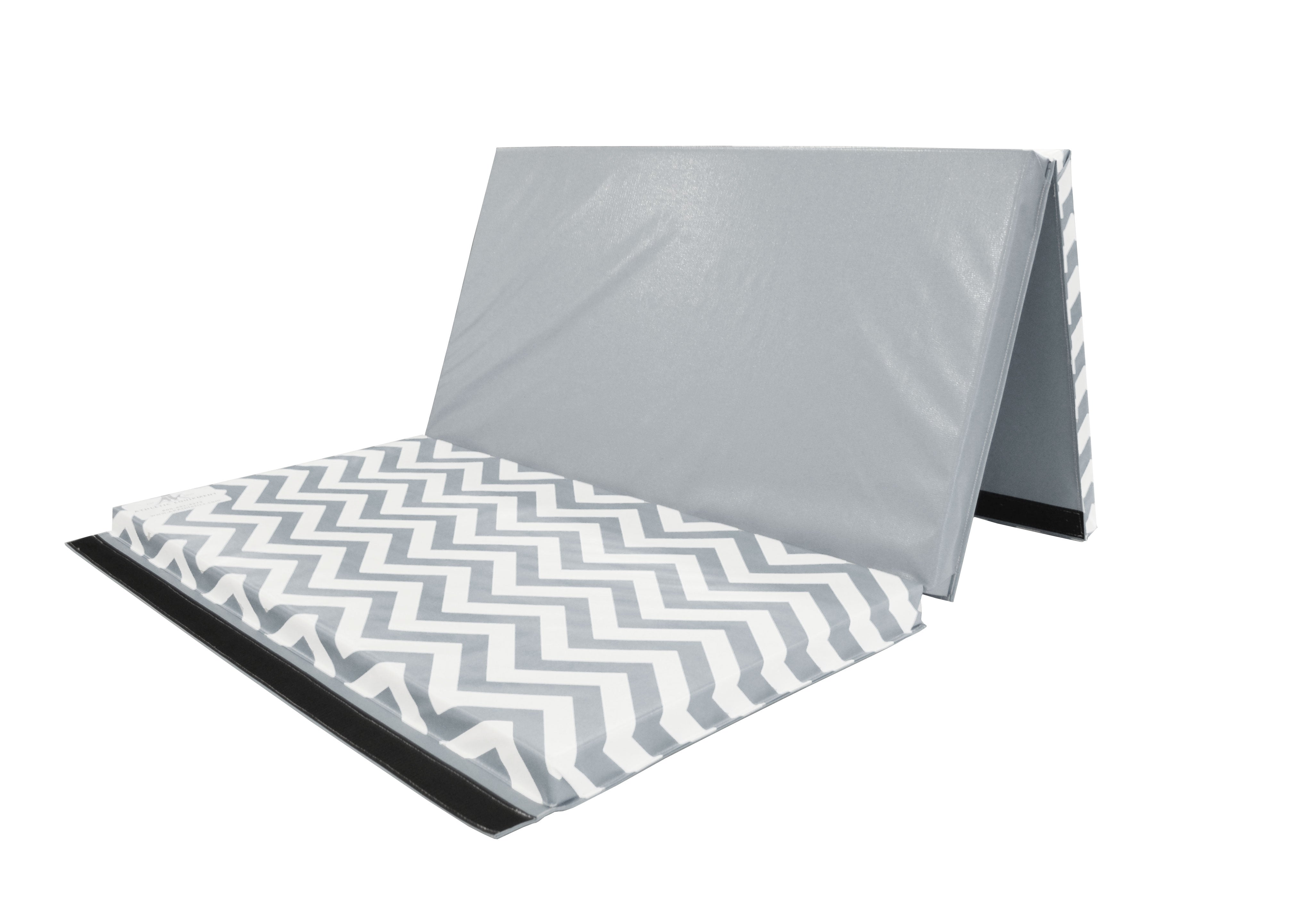 "Clearance Chevron Zigzag 4' x 6' x 2"" Intermediate Level Folding Gymnastics Mat"