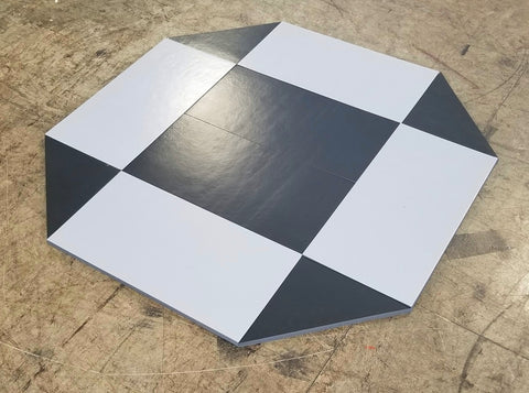 8' x 8' remnant octagon wrestling mat Black and Gray