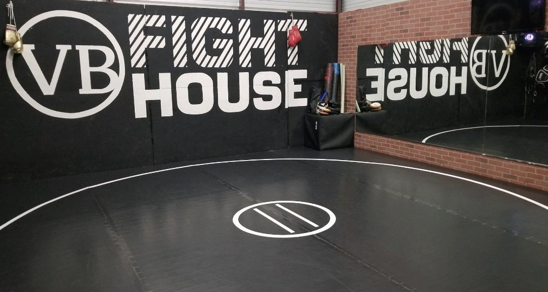 AK Black Wrestling Mat in VB Fight House Gym