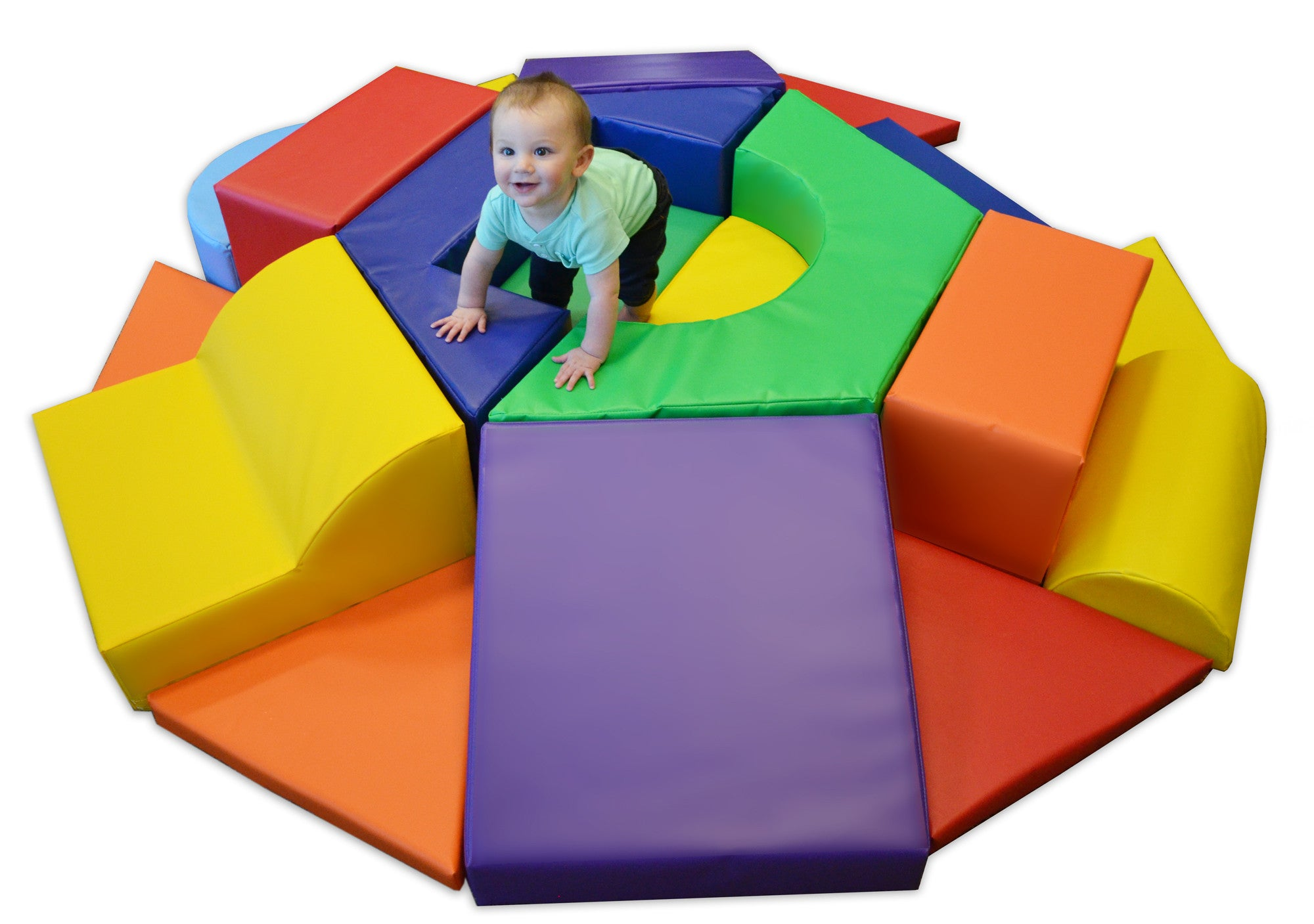 Hexagon Toddler Soft Play Climber