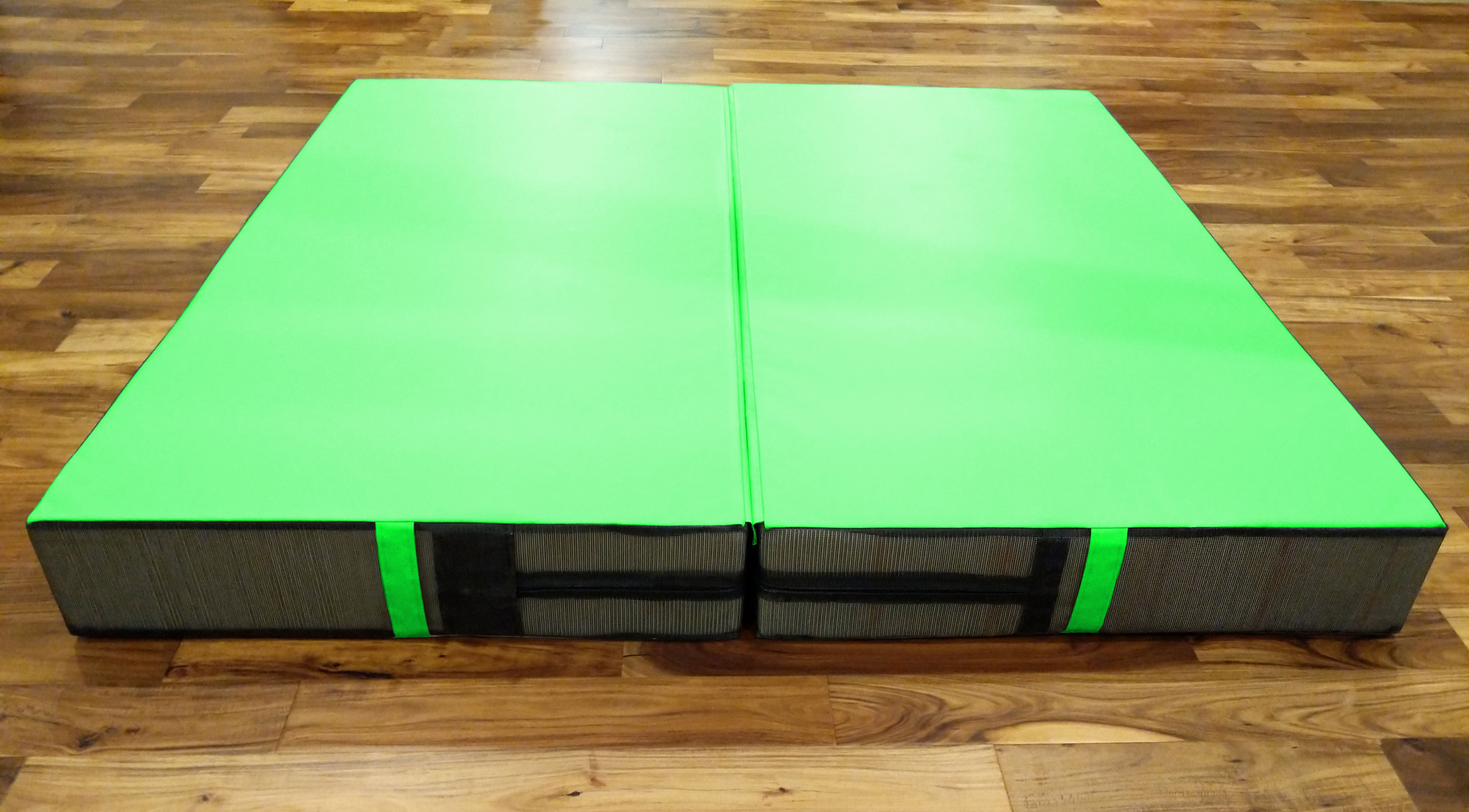 Lime green folding military crash pad