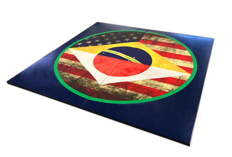 "Holiday Shop MMA Grappling Digitally Printed 8' x 8' x 1 3/8"" Roll-Up Mat"