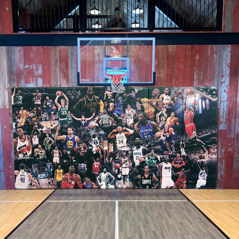 basketball player NBA wall pads