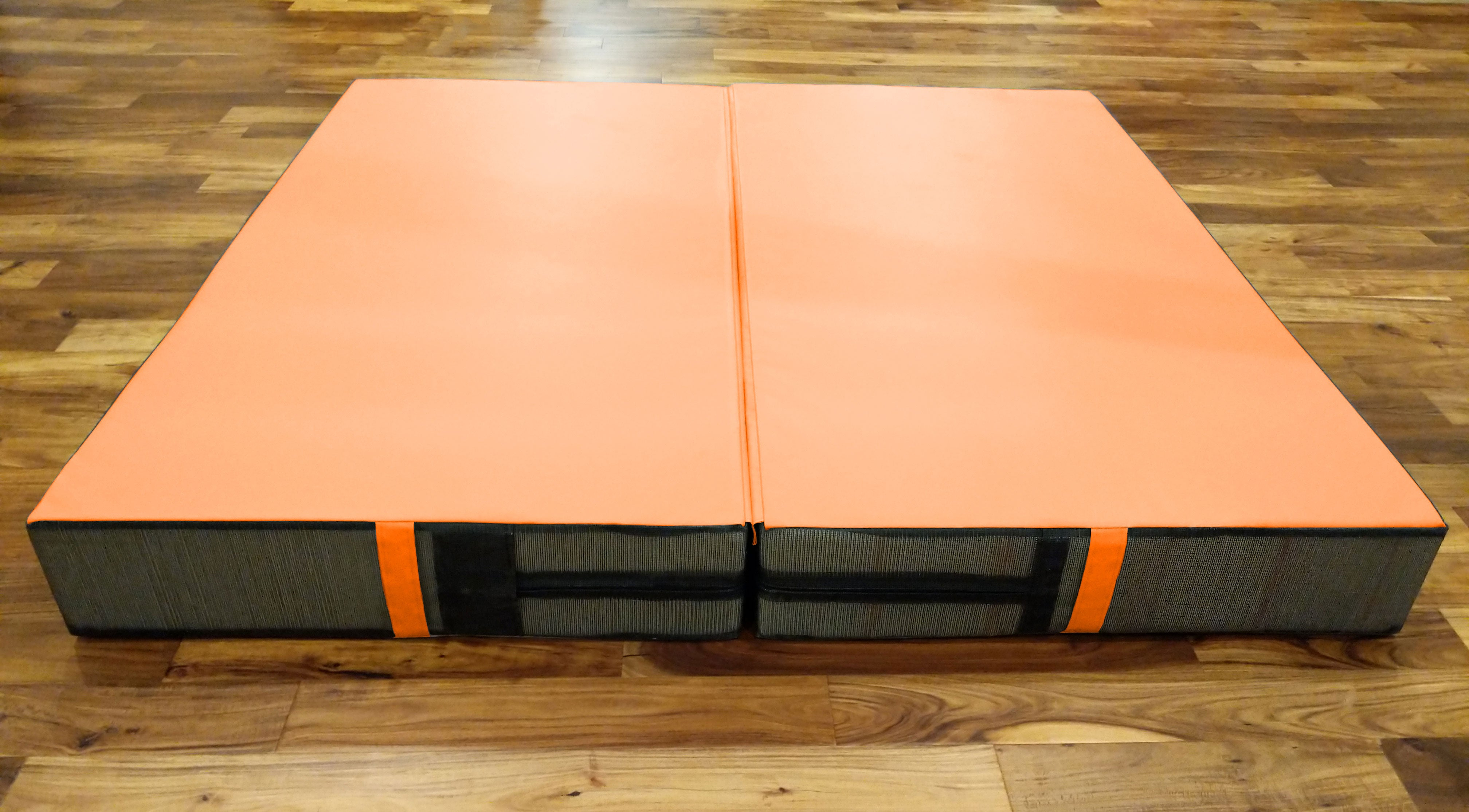 orange stunt landing mat