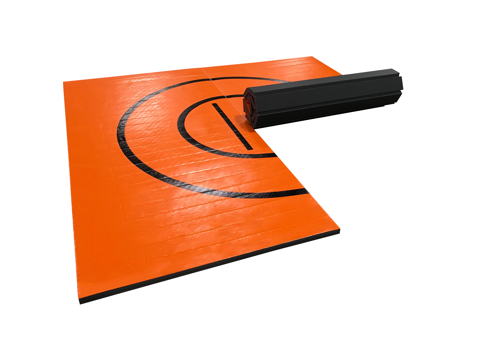 "8' x 8' x 1 3/8"" Orange Roll-Up Wrestling Mat"