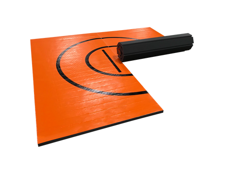 Orange Lightweight Easy Roll Wrestling Mat