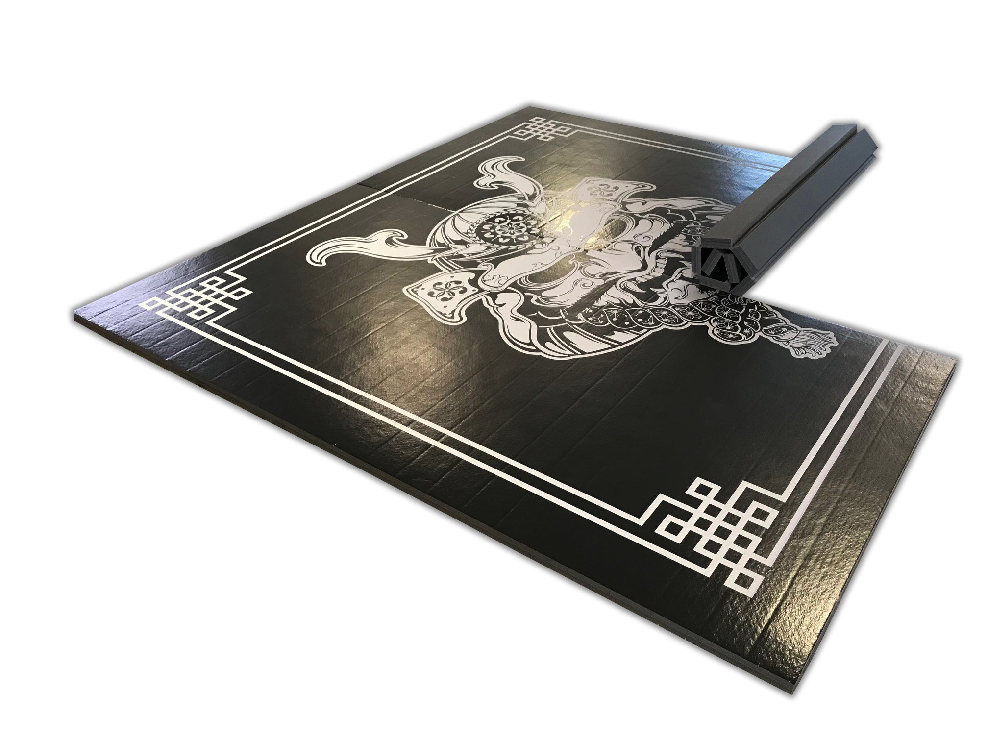 "Samurai Digitally Printed 8' x 8' x 1 3/8"" Roll-Up MMA Grappling Mat"