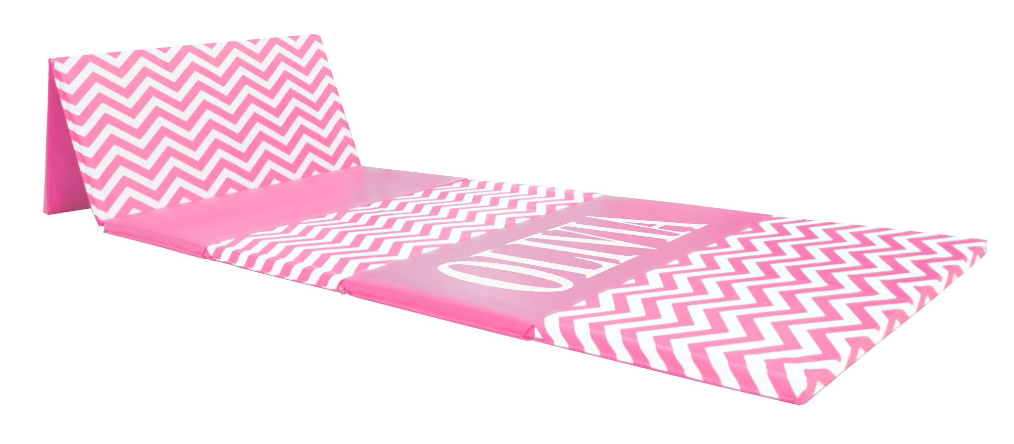 "CLEARANCE LOWEST PRICE OF THE YEAR Chevron Zigzag 4' x 12' x 1 3/8"" Advanced Level Folding Gymnastics Mat"