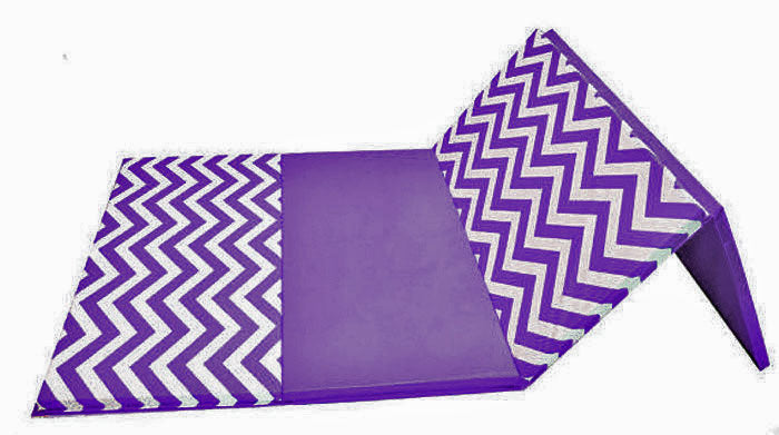 "Holiday Shop Chevron Zigzag 4' x 8' x 2"" Intermediate Level Folding Gymnastics Mat"