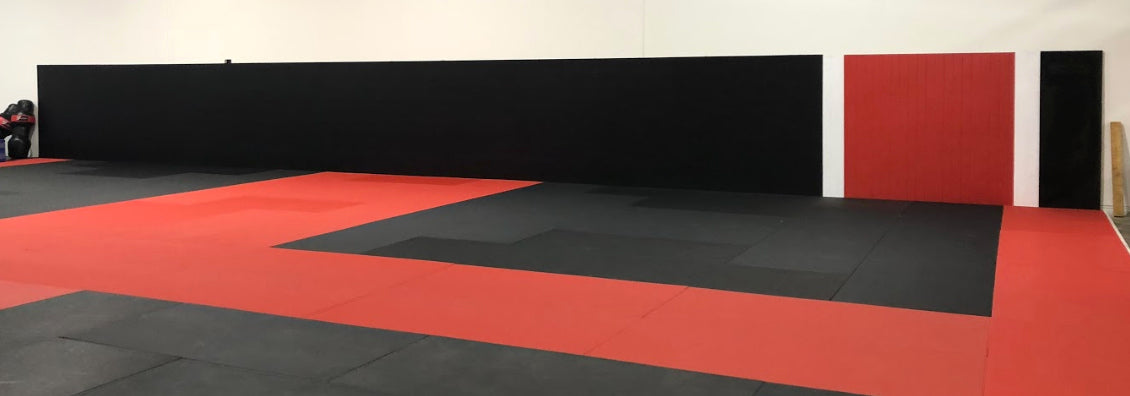 Martial arts belt wall safety mat design for sale by AK Athletics
