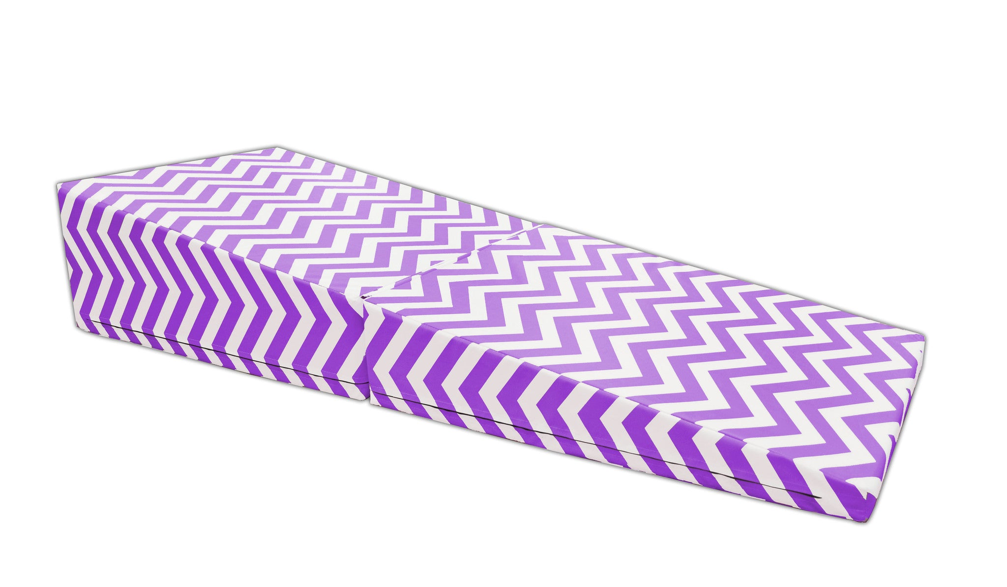 "Chevron Zig Zag 29""x 72""x14"" Folding Triangle Incline Gymnastics Wedge Mat"