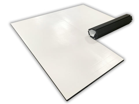White martial arts floor mat