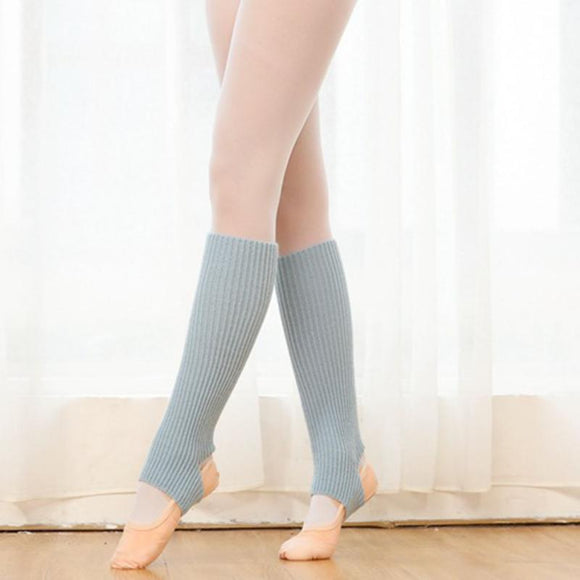 Woman Yoga Socks  Ballet Latin Dance Leg Socks Sports Protection Woolen Yoga Boot Socks Boots Cuffs Straight Long Leg Warmer