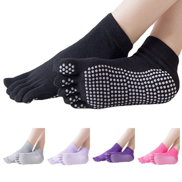 Women Yoga Socks Full Toe Gym Sport Non Slip Pilates Fitness Running Socks Anti-slip Sock Slippers