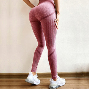 CROSS1946 Sexy Woman Seamless Yoga Pants Fitness Hips Push Up Leggings Sport Running Tight High Waist Pants Gym Leggings