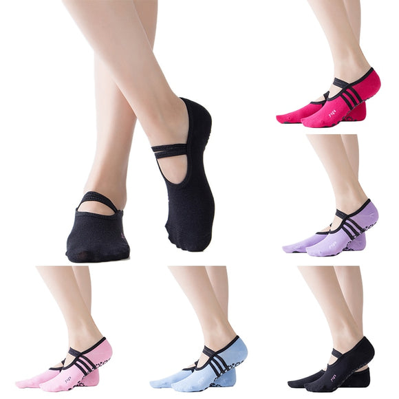 2020 Yoga Backless Quality yoga socks women pilates socks women's ballet yoga dance low to help socks anti-skating cotton socks