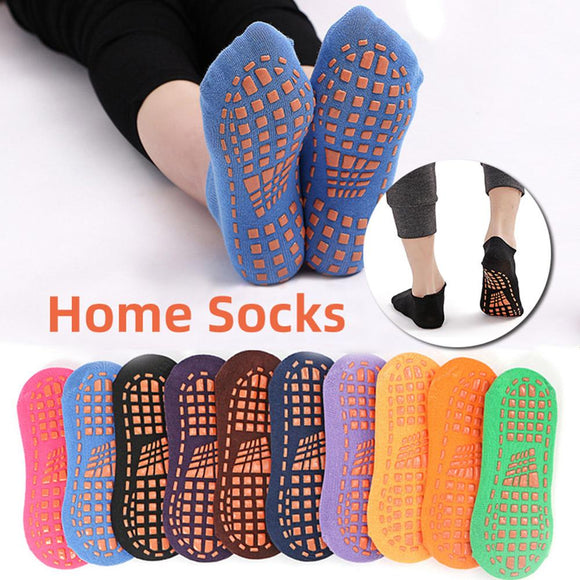 New Develop Solid Color Ankle Grip Socks for Men and Women Cotton Non-Slip Gripper Slipper Socks Wholesale Quick delivery CSV