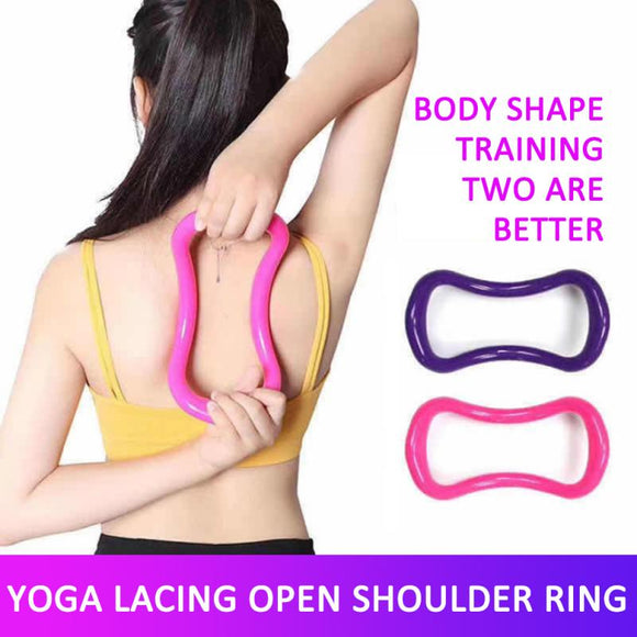Fitness Pilates Massage Circle Yoga Ring PP Home Gym Physical Exercise Full Body Building stretch Workout Ring Training Supplies