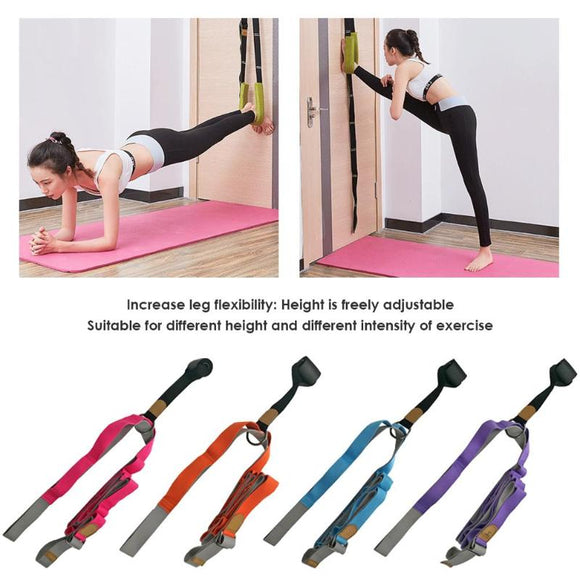 Door Split Flexibility Sports Yoga Ballet Band Dance Gymnastic Exercise Rope Soft Tension Stretching Strap Leg Stretcher Belt