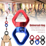 SALE 30KN Yoga Accessories Universal Ring Gimbal Ring Rotary Connector Rotational Hammock Swing Spinner Rope Swivel Connector