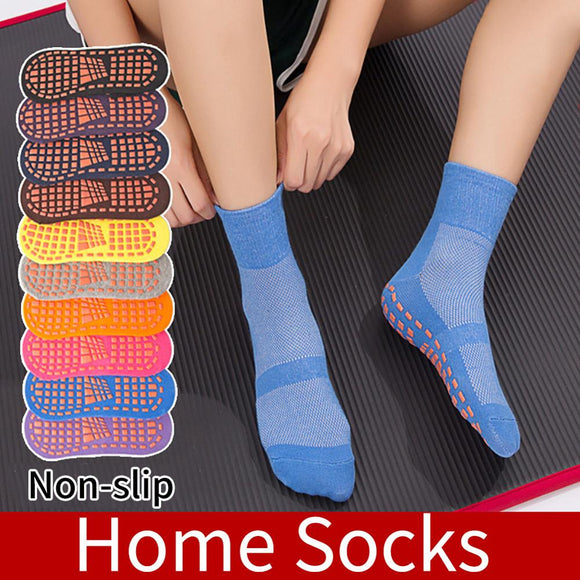 SALE Solid Color Ankle Grip Socks for Men and Women Mesh Non-Slip Breathable Gripper Slipper Socks Wholesale Quick delivery