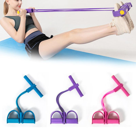 2020 Multi-Function Fitness Tension Rope Muscle Training Resistance Band Latex Pedal Exerciser Sit- Up Premium Tension Rope Home