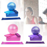5pcs Yoga Equipment Set Yoga Ball Yoga Block Stretch Band Resistance Band Starter Kit Stretching Aid Gym Pilates Fitness