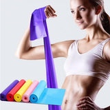Yoga Fitness Resistance Bands Elastic Stretch Tension Pull Rope Rubber Yoga Fitness Tension Loops Sport Training Equipment