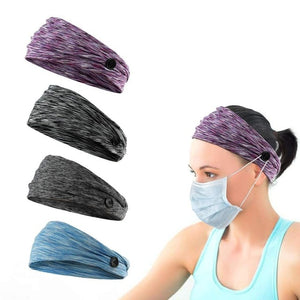 4PCS Coolest Trible Headband Women Men Sport Workout Anti-stroke Hair Band Soft Wicking Stretchy