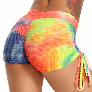 CROSS1946 Printing Workout Leggings Yoga Shorts Women Summer Sexy Sports Gym Running Breathable Short Yoga Leggings