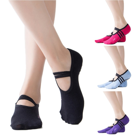 New Pilates women's ballet yoga dance low to help sock anti-skating cotton ankle sneakers sports socks streetwear Dropshipping