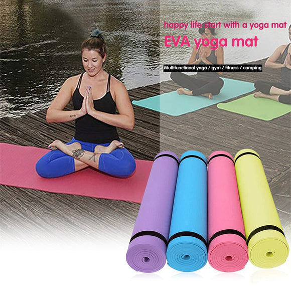 4MM EVA Thick Durable Yoga Mat Non-slip Exercise Fitness Pad Mat Large size weight loss and body shaping yoga mat yoga esteras