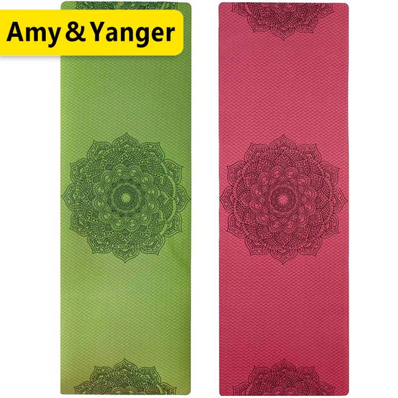 USA,France,Spain,Russia local dropship Non-slip TPE Yoga Mats For Fitness Pilates Gym Exercise Sport
