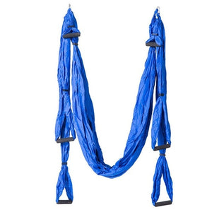 5 Colors Aerial Yoga Hammock 6 Handles Strap Home Gym Hanging Belt Swing Anti-Gravity Aerial Traction Devices