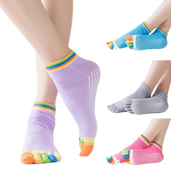 Fitness Equipment Yoga Socks Non-slip Anti-slip Pilates Sport Safety Socks Toe Cotton Ms. Men's Finger Yoga Socks Dropshipping