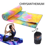 Yoga Mat Fitness Towel Printed Yoga Towel Non-slip Yoga Towel  Fitness Gym Exercise Pilates Workout Blanket