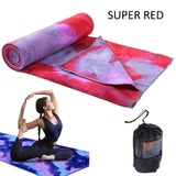Fitness Towel 63 * 183cm Printed Yoga Mat Microfiber Non-slip Tie-dye Sports Beach Swimming Quick-drying Yoga Shop Towel